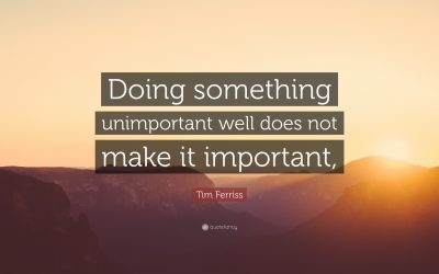 Why most things are unimportant